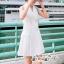 เสื้อผ้าแฟชั่นเกาหลี Lady Ribbon Thailand Seoul Secret Say's...Sleeveless Dress White Behind The Triangle thumbnail 1