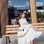 เสื้อผ้าแฟชั่นเกาหลี Lady Ribbon Thailand Korea Design By Lavida Ivory floral embroidery maxi dress code3002 thumbnail 2