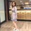 เสื้อผ้าแฟชั่นเกาหลี Lady Ribbon Thailand Normal Ally Present F.r.c brand new collection 2018 dress thumbnail 3