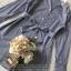 เสื้อผ้าแฟชั่นเกาหลี Lady Ribbon Thailand Seoul Secret Say'...Stripe Dress Shirt Blue Chic With White Collar thumbnail 5