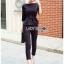 เสื้อผ้าแฟชั่นเกาหลี Lady Ribbon's Made Lady Anne Smart Casual Striped Crepe Ensemble Set thumbnail 15
