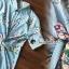 Seoul Secret Say's... Stripe Pattern Waist Ivory Floral Print Shirt Dress thumbnail 5