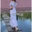 เสื้อผ้าแฟชั่นเกาหลี Lady Ribbon Thailand Lady Ribbon's Made Lady Hannah Flower Laser-Cut and Embroidered Ruffle Cotton Long Dress thumbnail 3