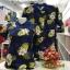 เสื้อโปโลลายดอก ดอกมะพร้าว เนื้อผ้า COTTON100% เหลือ SIZE หญิง XL, ชาย L thumbnail 1