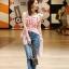 เสื้อผ้าแฟชั่นเกาหลี Lady Ribbon Thailand Normal Ally Present Topshop striped style summer collection thumbnail 1