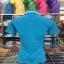 เสื้อโปโลสำเร็จรูป แบบอัดลาย สีฟ้า ทรงสปอร์ต thumbnail 3