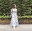 เสื้อผ้าแฟชั่นเกาหลี Lady Ribbon Thailand Normal Ally Present Embroider flower and lace new collection dress thumbnail 2