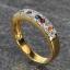 แหวนพลอยนพเก้าทองแท้ พลอยแท้ thumbnail 3