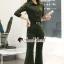 เสื้อผ้าแฟชั่นเกาหลี Seoul Secret Say's...Lacely Gray&Green Shirt Zipper ChicChic Set thumbnail 1