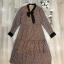 เสื้อผ้าแฟชั่นเกาหลี Lady Ribbon Thailand Normal Ally Present Boutique and classy dress thumbnail 4