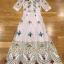 เสื้อผ้าแฟชั่นเกาหลี Lady Ribbon Thailand Lady Marie Fancy Flower Blossom Lace Maxi Dress thumbnail 6