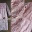 Seoul Secret Say's... Pastel Pink Droplet Lace Dress thumbnail 1
