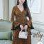เสื้อผ้าแฟชั่นเกาหลี Lady Ribbon Thailand Normal Ally Present Flower print and boutique pleated dress thumbnail 1