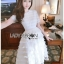 เสื้อผ้าแฟชั่นเกาหลี Lady Ribbon Thailand Lady Ariana Ruffle & Layered White Mixed Fabric Dress thumbnail 2