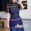 เสื้อผ้าแฟชั่นเกาหลี Lady Ribbon Thailand LUXURY by Seoul Secret ...Lady Elegant Organza Lace Dress Korea Style thumbnail 2