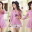 เสื้อผ้าแฟชั่นเกาหลี Lady Ribbon Thailand Seoul Secret Say'...Short Leg Suit Classic Luxury Pink Tones thumbnail 3