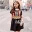 Elisa made Feminine Black Stripe Lace luxury style thumbnail 1