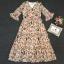 เสื้อผ้าแฟชั่นเกาหลี Lady Ribbon Thailand Korea Design By Lavida Blossom stitching feminine dress code8243 thumbnail 4