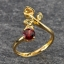 แหวนพลอยโกเมน ประดับบุษราคัม ตัวเรือนทองแท้ thumbnail 2