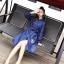 เสื้อผ้าแฟชั่นเกาหลี Lady Ribbon Thailand Normal Ally Present Embroidered and Boutique Denim dress thumbnail 3