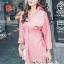 เสื้อผ้าแฟชั่นเกาหลี Lady Ribbon Thailand Seoul Secret Say'...T-Shirt Cotton Pink Peat Tie Rib Cage Chic Chic thumbnail 2