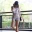 เสื้อผ้าแฟชั่นเกาหลี Lady Ribbon Thailand Normal Ally Present C.N new collection shirt and pant set thumbnail 1