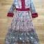 เสื้อผ้าแฟชั่นเกาหลี Lady Ribbon Thailand Lady Fancy Colourful Lace Maxi Dress thumbnail 4