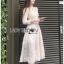 เสื้อผ้าแฟชั่นเกาหลี Lady Ribbon's Made Lady Matilda Flower Embroidered Champagne Lace Dress thumbnail 6