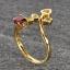 แหวนพลอยโกเมน ประดับบุษราคัม ตัวเรือนทองแท้ thumbnail 3