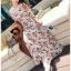 เสื้อผ้าแฟชั่นเกาหลี Lady Ribbon Thailand Lady Ribbon's Made Lady Anne Autumn Flower Printed Chiffon Dress with Flower thumbnail 2