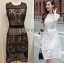 &#x1F380 Lady Ribbon's Made &#x1F380 Lady Emma Royal Elegant Classic Black Lace Dress thumbnail 3