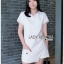 เสื้อผ้าแฟชั่นเกาหลี Lady Ribbon Thailand Lady Ribbon's Made Lady Taylor Minimal Chic White Top and Shorts Set thumbnail 1