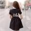 Elisa made Feminine Black Stripe Lace luxury style thumbnail 3