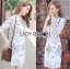 เสื้อผ้าแฟชั่นเกาหลี Lady Ribbon's Made Lady Serena Smart Feminine Embroidered Cotton Dress thumbnail 3