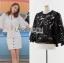 เสื้อผ้าแฟชั่นเกาหลี Lady Ribbon's Made Gabby Basic Lace Cropped Top with Back Ribbon thumbnail 3