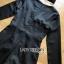 เสื้อผ้าแฟชั่นเกาหลี Lady Ribbon's Made Jenine Modern Masculine Chic Button Down Black Silk playsuit thumbnail 8