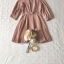 เสื้อผ้าแฟชั่นเกาหลี Lady Ribbon Thailand Seoul Secret Say'...Sweet Allure Off-Shoulder Pink Nude Velvet Dress thumbnail 4
