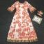 เสื้อผ้าแฟชั่นเกาหลี Lady Ribbon Thailand Korea Design By Lavida Elegant floral printing maxi dress code3007 thumbnail 4