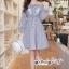 เสื้อผ้าแฟชั่นเกาหลี Lady Ribbon Thailand Seoul Secret Say'...Erin Off Shoulder Breakdown Flower Pattern Dress thumbnail 1
