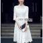 เสื้อผ้าแฟชั่นเกาหลี Lady Ribbon Thailand Lady Ribbon's Made Lady Maleeya Laser-Cut and Embroidered White Cotton thumbnail 1