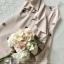 เสื้อผ้าแฟชั่นเกาหลี Lady Ribbon Thailand Seoul Secret Say'...Embroidered Linen Dress crystal Oblique thumbnail 5