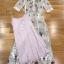 เสื้อผ้าแฟชั่นเกาหลี Lady Ribbon Thailand Lady Marie Fancy Flower Blossom Lace Maxi Dress thumbnail 5
