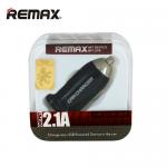 หัวชาร์จในรถยนต์ REMAX 2.1A (สีดำ)