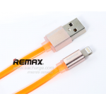 สายชาร์จ REMAX หัวอะลูมิเนียม Lighting Cable (สีส้ม)