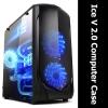 [PC Case] Ice V 2.0 PC ฝาข้างใส รมดำ (เคสดำ)