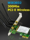 PCI-E Wireless 300M 2DB x 3 เสา