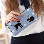 กระเป๋าสตางค์ ใบยาว ซิปรอบ สีฟ้า รุ่น Lucky Wallet