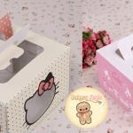 กล่องใส่เค้ก เบเกอรี่ ลายคิตตี้ (19*19*12 cm.)