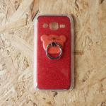 เคสหมีกากเพชร J2 แดง