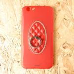 เคสเจ้าหญิงแหวนเพชรเตลือบสีเมทัลลิค F1s แดง